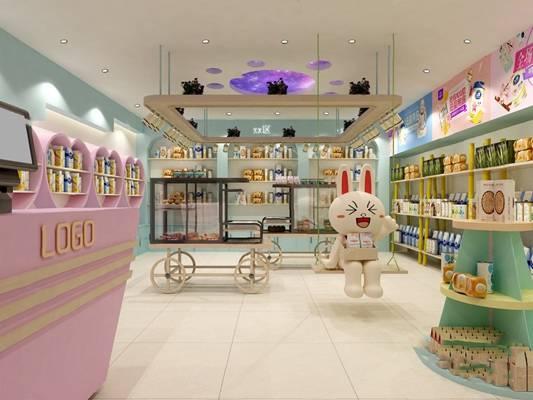 现代母婴店3D模型