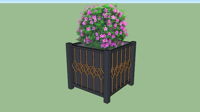 木桶,植物花瓶,灌木丛,P3/流水池。 柜子 垃圾箱 其他 箱子 室外