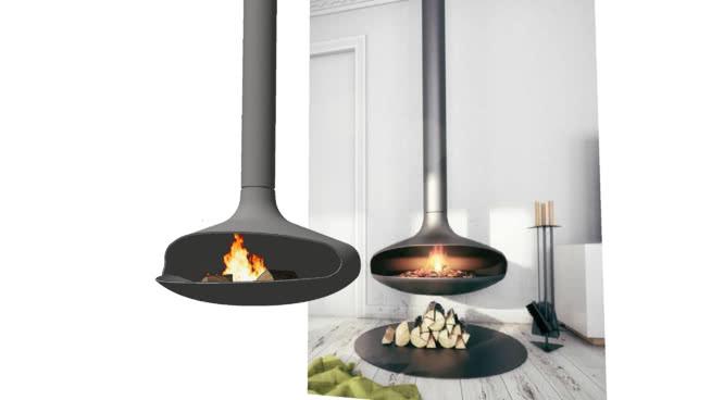 现代壁炉02长壁炉 长柄勺 煎锅 炊具 台灯 调羹