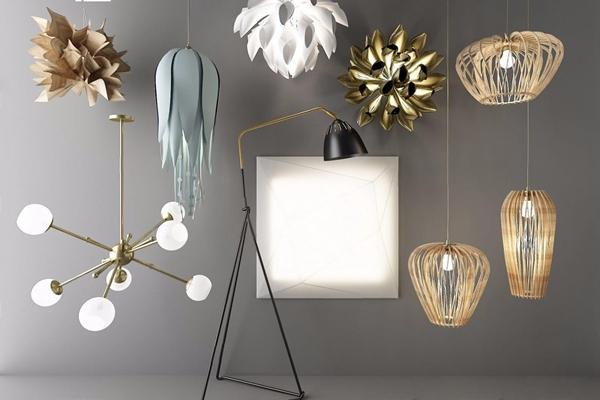 北欧灯具组合 北欧灯具 吊灯 落地灯 壁灯