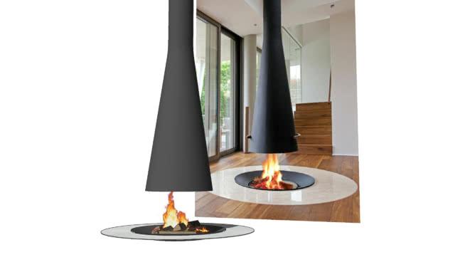 现代壁炉03 台灯 蜡烛 灯罩