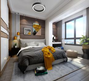 现代主人房卧室3D模型