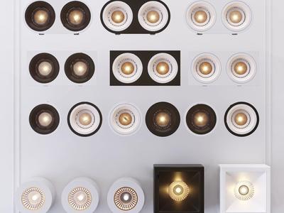 现代筒灯射灯3d模型