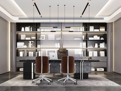 现代流行现代办公室国外3D模型下载