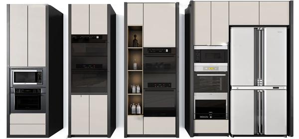 现代微波炉烤箱3d模型