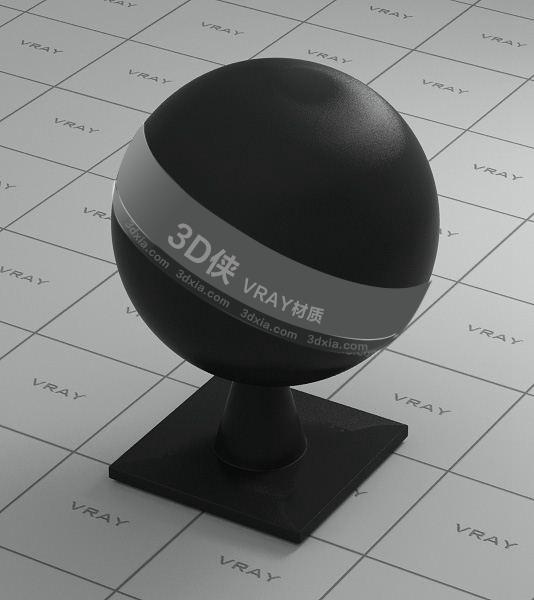 黑色塑料Vray材质下载