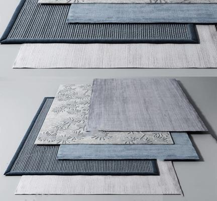 现代地毯组合 现代家纺 地毯组合