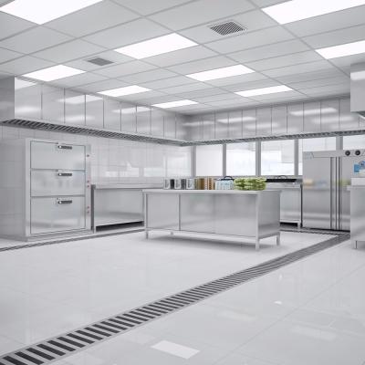 现代酒店厨房3d模型