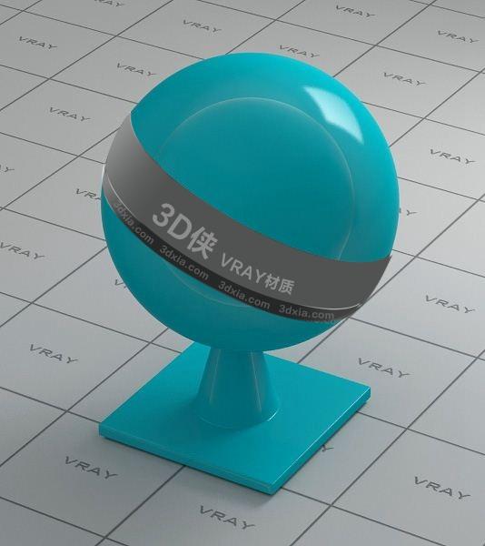 蓝色塑料Vray材质下载