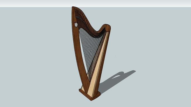 吟游诗人三弦琴 椅子 熨斗 竖琴 钢笔 小刀