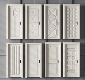 现代单开门组合3D模型