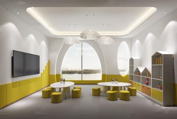 现代幼儿园儿童教室3d模型