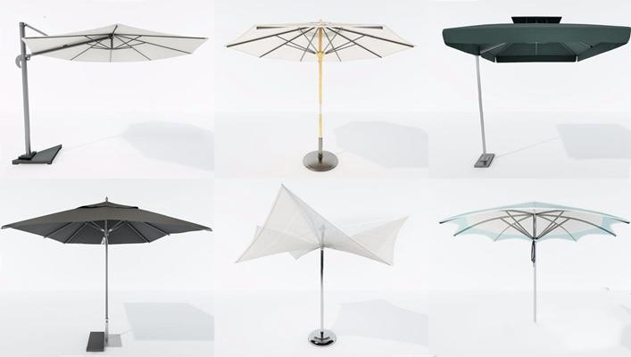 户外遮阳伞组合 现代其他器材 遮阳伞 户外遮阳伞组合