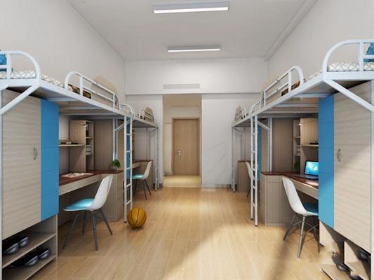 学校宿舍 现代学校 宿舍 上下床 上下铺 椅子