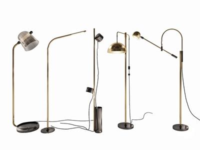 现代北欧落地灯组合 现代落地灯 金属落地灯 北欧落地灯组合