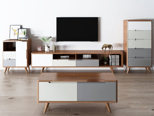 北欧电视柜茶几组合3d模型