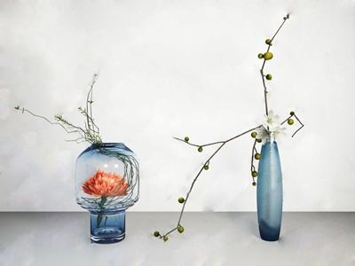 现代花艺 现代花艺 玻璃花瓶 整体花艺