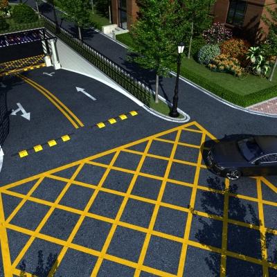 现代小区地下停车场入口3D模型
