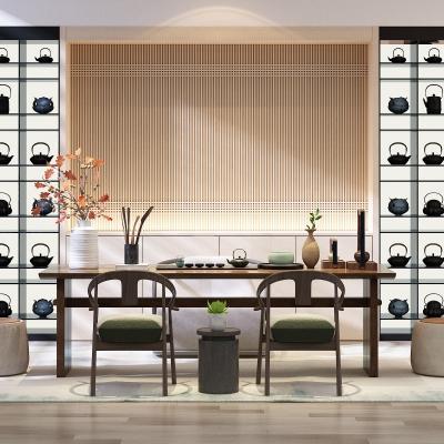 新中式实木泡茶桌椅组合3d模型