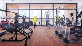 现代健身房3D模型