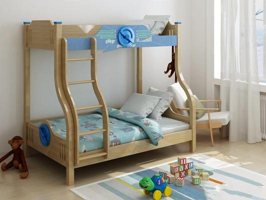 儿童房上下床 儿童房床具 上下床