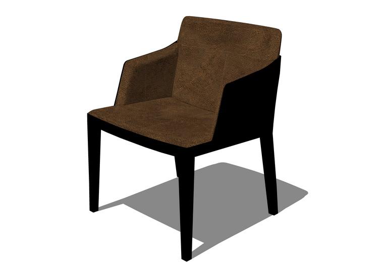 单人休闲椅子SU模型