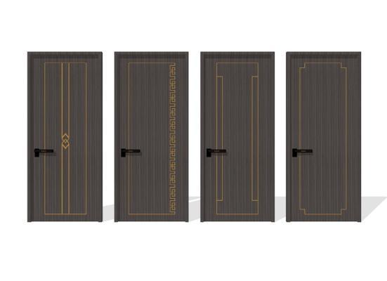 新中式单开门组合SU模型