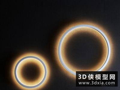 现代圆圈壁灯