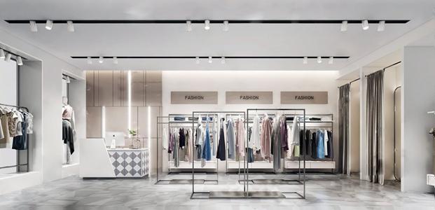 现代服装店 现代服装店 衣架 收银台 服饰 模特