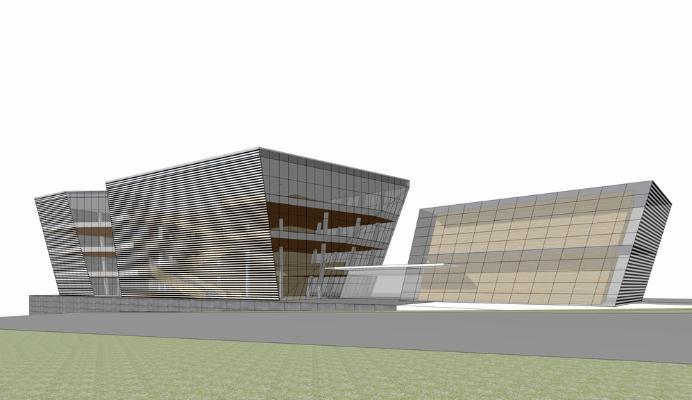 达州图书馆SU模型