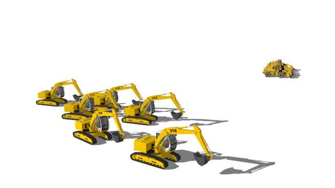 重型机械 机械 机器 飞机 工地 战机