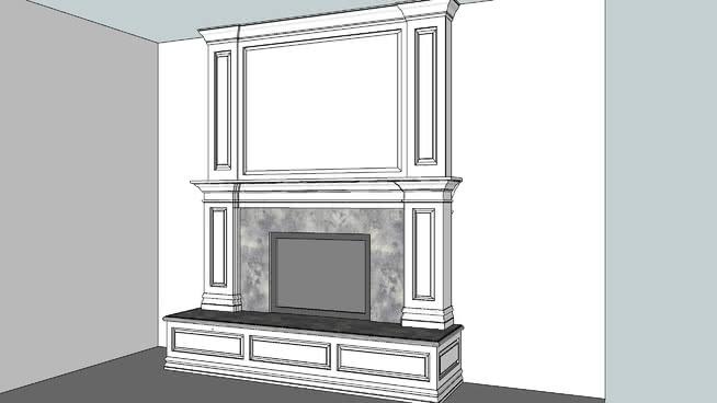 传统壁炉 镜子 电视机 垃圾箱 其他 壁炉
