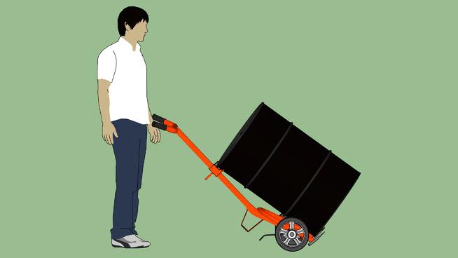 工业系列-设备-集装箱-桶WESCO 10BT鼓式运输车-运输模式 运动 老人 其他 球拍 担架