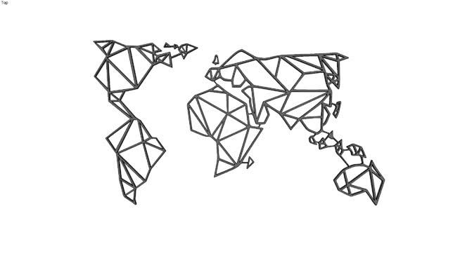 世界地图墙装饰 其他 画 篮子 马车 饰品