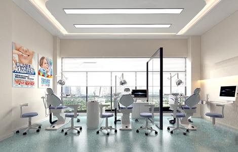 现代牙科医疗诊室3d模型
