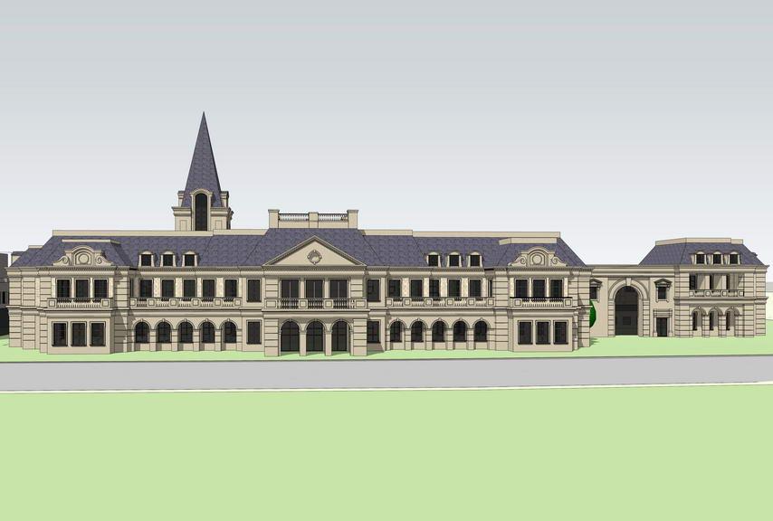 法式幼儿园SU模型