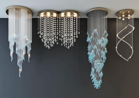 现代水晶灯组合 现代吊灯