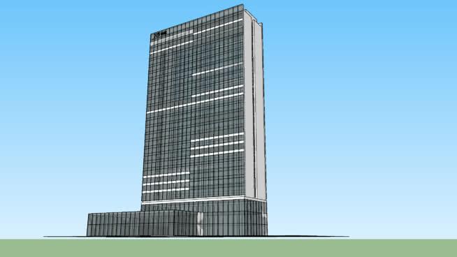 办公楼立面幕墙玻璃 大厦 建筑