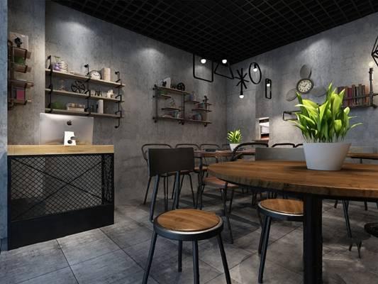 工业餐厅3D模型
