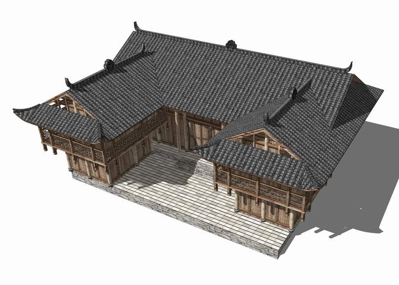 中式民居SU模型