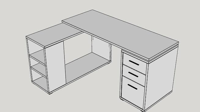 查里斯L型电脑桌 桌子 家具 椅子 镜子 室外
