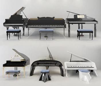 现代钢琴 现代体娱器材 钢琴 装饰画 琴 乐器