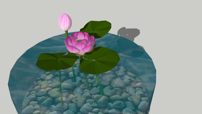 莲花3D -天然材料 围兜 风车 画 其他 饰品