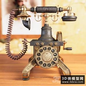 復古電話模型
