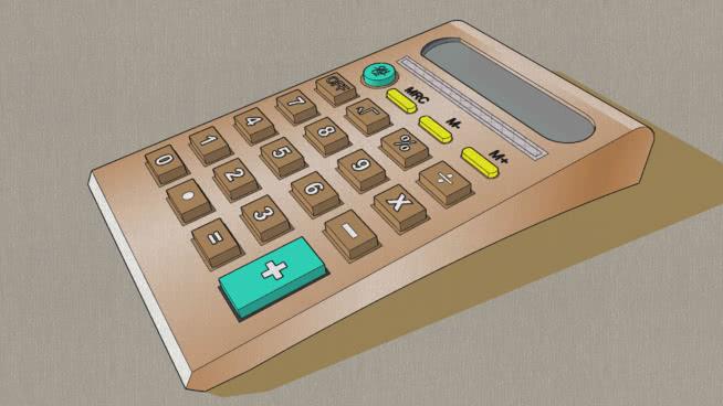 袖珍计算器 遥控器 掌上智能设备 手机 键盘 钱