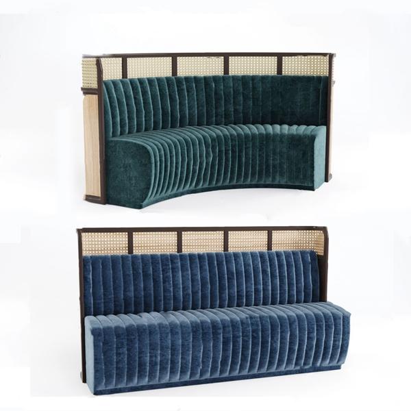 现代卡座休闲沙发3d模型