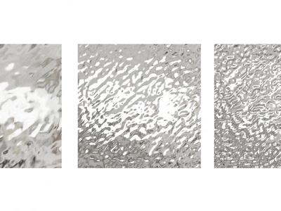 现代水波纹不锈钢饰面板3d模型