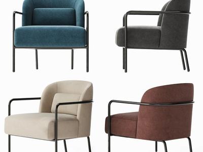 现代布艺单人椅