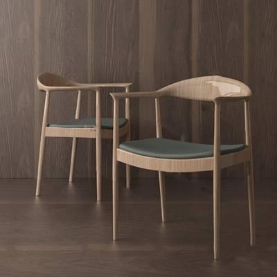 现代餐椅3D模型下载