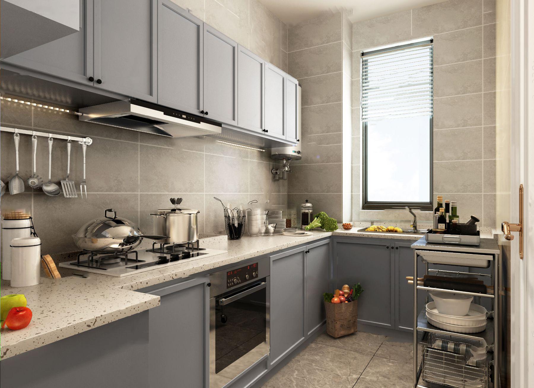 北欧厨房3d模型